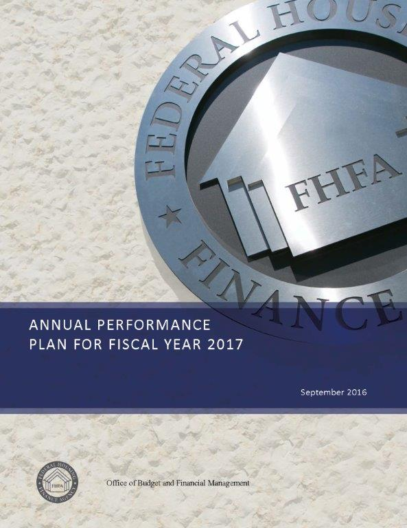 Annual Performance Plan - Fy 2017 | Federal Housing Finance Agency