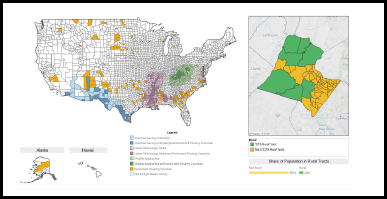 DTS High Needs Counties Tableau Map