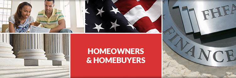 FHFA Homeowners Homebuyers Header Image