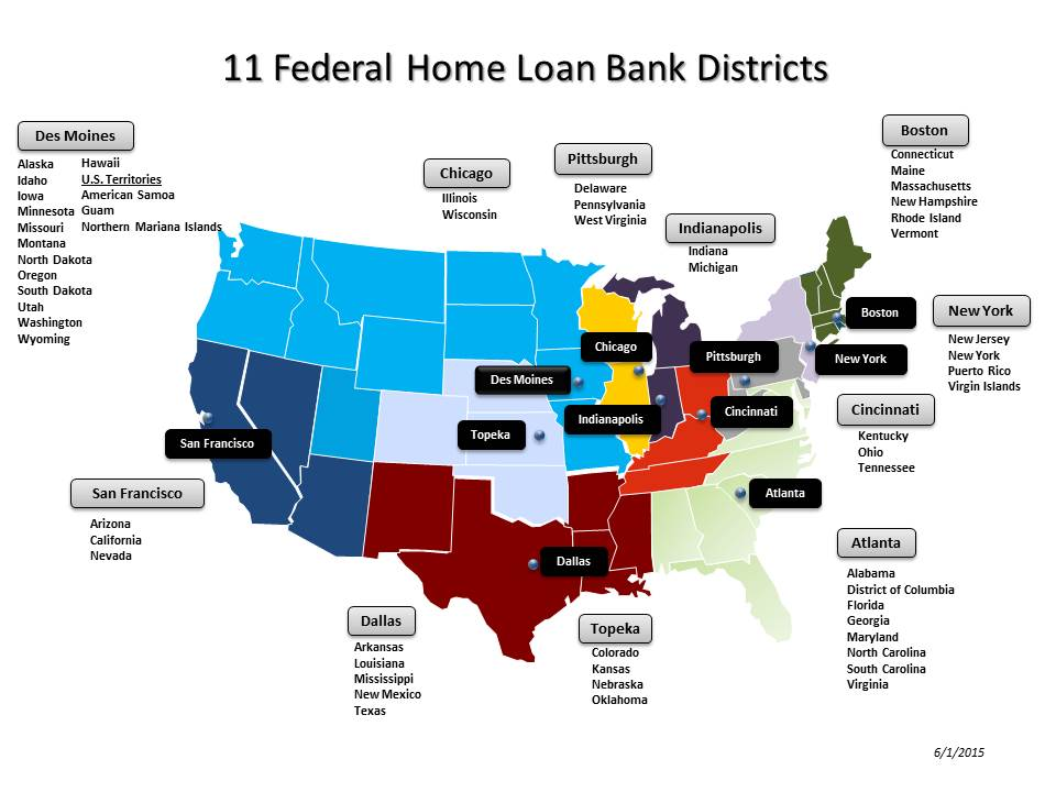 Final Map and List of FHLBs - dated June 1, 2015